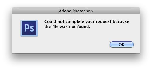 Error message when attempting to open a JPG in CS6